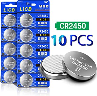 LiCB 10 Pack CR2450 Battery 3V Lithium CR 2450