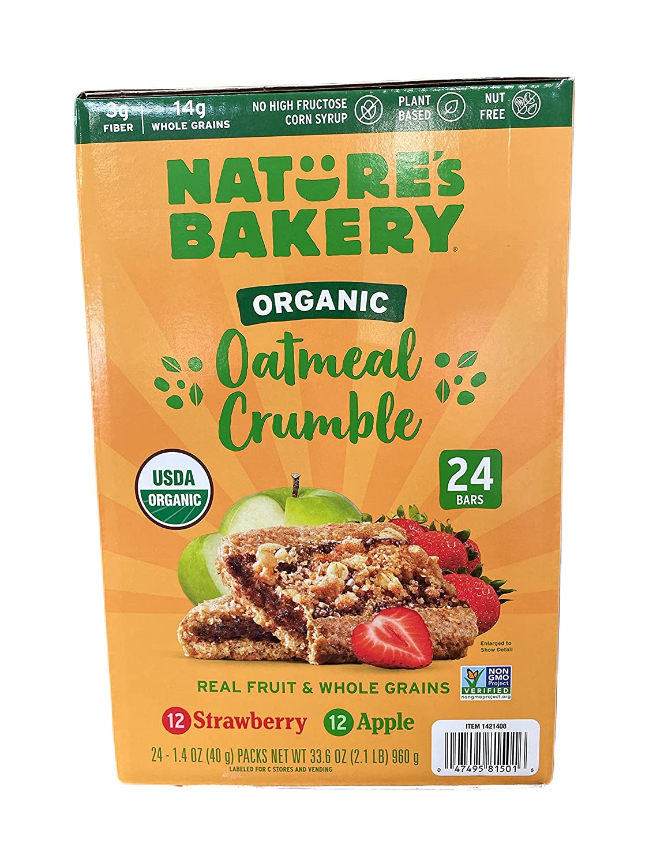 Nature's Bakery Organic Oatmeal Crumble, 24 Bars