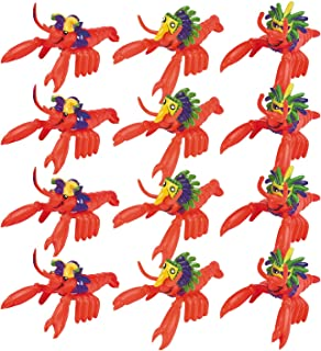 Fun Express Mardi Gras Mini Crawfish | 12 Count | Great for Luau, Children's Party, Birthday Bash, Themed Parties, Giveaways or Party Favors