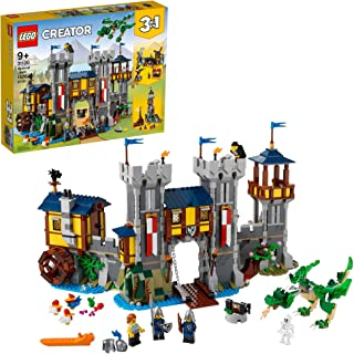 LEGO Creator 3in1 Medieval Castle 31120 Building Kit; Castle with Moat and Drawbridge, Plus 3 Minifigures; New 2021 (1,426...