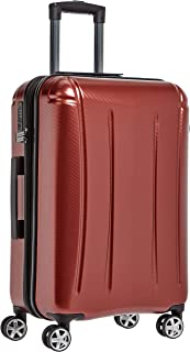 AmazonBasics Oxford Expandable Spinner Luggage Suitcase with TSA Lock - 26.8 Inch, Red
