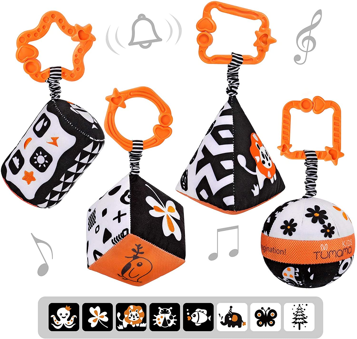 TUMAMA High Contrast Shapes Sets Baby Toys White Latest item Store and Black Stro