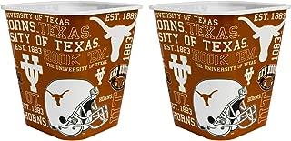 Boelter Brands NCAA 3 Liter Reusable Plastic Snack Bucket 2 Pack