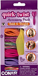 Conair Quick Twist Hair Braider Accessory Kit, Bold and Bright