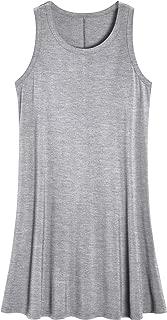 Women's Sleeveless Nightgown Scoop Neck Sleep Tank Dress
