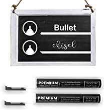 Erasable Liquid Chalk Markers White 2PK - Fine Tip Chalk Marker for Chalkboard - Bright Ink & Easy to Erase - 3mm Reversib...