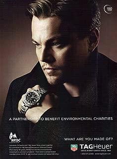 Collectible 2010 Leonardo DiCaprio Tag Heuer Watch Original Magazine Print Ad