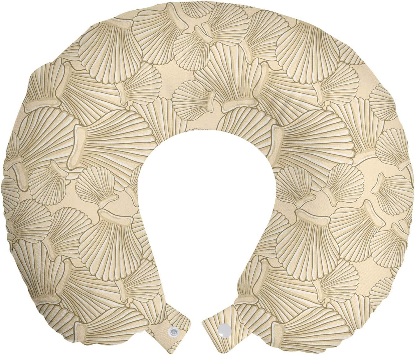 Ambesonne Shells Travel Pillow High quality new Rest Neck safety Overlapped Interlacing