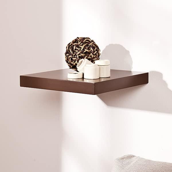 Southern Enterprises Aspen Floating Wall Shelf 10 Wide Chocolate Finish