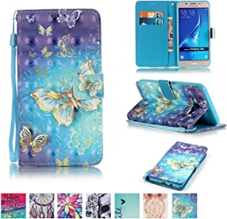 Galaxy J510 / J5 2016 Case, Firefish [Kickstand] PU Leather Flip Purse Case Slim Bumper Cover with Lanyard Magnetic Skin for Samsung Galaxy J510 / J5 2016