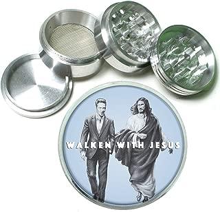 Walken with Jesus Funny 4 Pc. Aluminum Tobacco Spice Herb Grinder