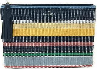 Kate Spade Ash Street Boardwalk Stripe Large Tassel Pouch Clutch Bag