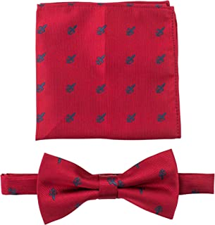 Bow Ties for Men - Pre-Tied Clip on Bow Tie with Matching Pocket Square Set- Scott Allan Collection