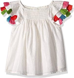 2d87cf5a923dc Masala Baby Baby Girls Sundancer Dress Metallic Stripe Vanilla