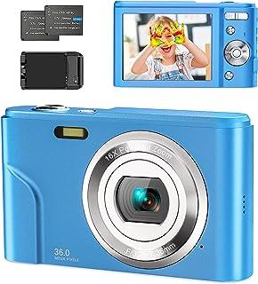 """Compactas Cámaras Digitales 1080P 36 MP Camara Compacta con 16X Zoom Digital,Cámara de Fotos con Pantalla de 2,4"""",Batería..."""