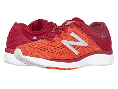 New Balance Kids 860 (Little Kid/Big Kid) (Neo Flame/NB Crimson) Boys Shoes