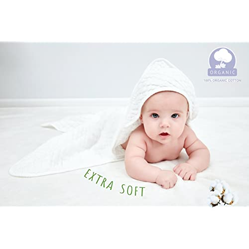Super Soft Cotton Gauze,suitable for babys delicate skin,Newborn Muslin Baby Towel Cotton Warm Baby Bath Towels Also for Baby G-Tree Cotton Grade Natural Baby Bath Towels