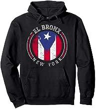El Bronx design - Puerto Rico boricua bandera Flag Varsity Pullover Hoodie