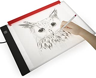 Picture/Perfect Light Box For Drawing and Tracing - Thin Portable LED Light Pad with Advanced Filter Prevents Eye Fatigue, Free Paper Holder, A4 13x9 inch Table With Hi-Mid-Low Brightness