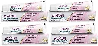 کرم روشن کننده پوست Valocity Kozicare با کوجیک اسید ، آربوتین ، گلوتاتیون | انواع مختلف پوست رنگدانه هایپر ، حذف لکه ها - 15 گرم (بسته 4)