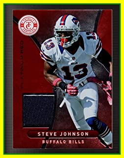 2012 Totally Certified Red Materials GAME USED JERSEY #11 Steve Stevie Johnson Buffalo Bills Kentucky Wildcats Chabot Serial #288/299