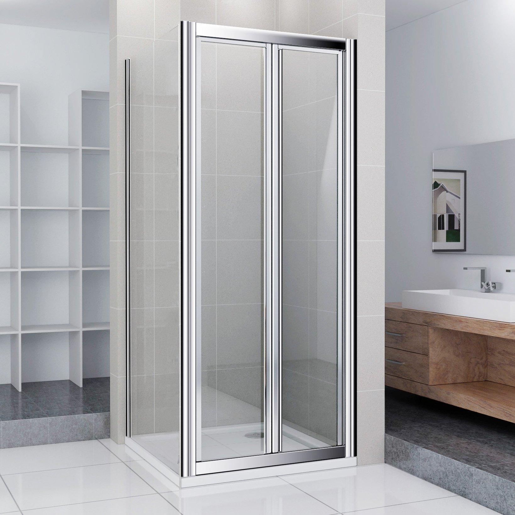 Mampara de ducha cabina de ducha rectangular cuadro dopeul puerta giratoria ducha 90 x 70 cm/incluye de ducha: Amazon.es: Hogar