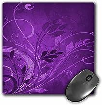 3dRose LLC 8x 8x 0.25Inches Mouse Pad, Pretty Color Púrpura Flourishes (MP 78564_ 1)