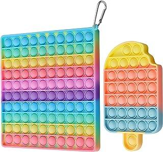 Juguete sensorial de gran tamaño con burbujas de empuje, juguete sensorial, 20.3 cm, 100 burbujas, autismo, ADHD, alivio d...