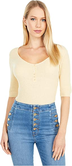 Scoop Neck Henley