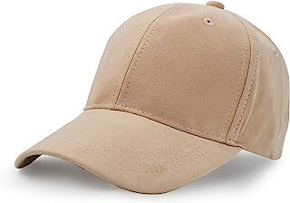 UltraKey Suede Baseball Cap, Unisex Faux Suede Leather Adjustable Plain Hat Baseball Cap