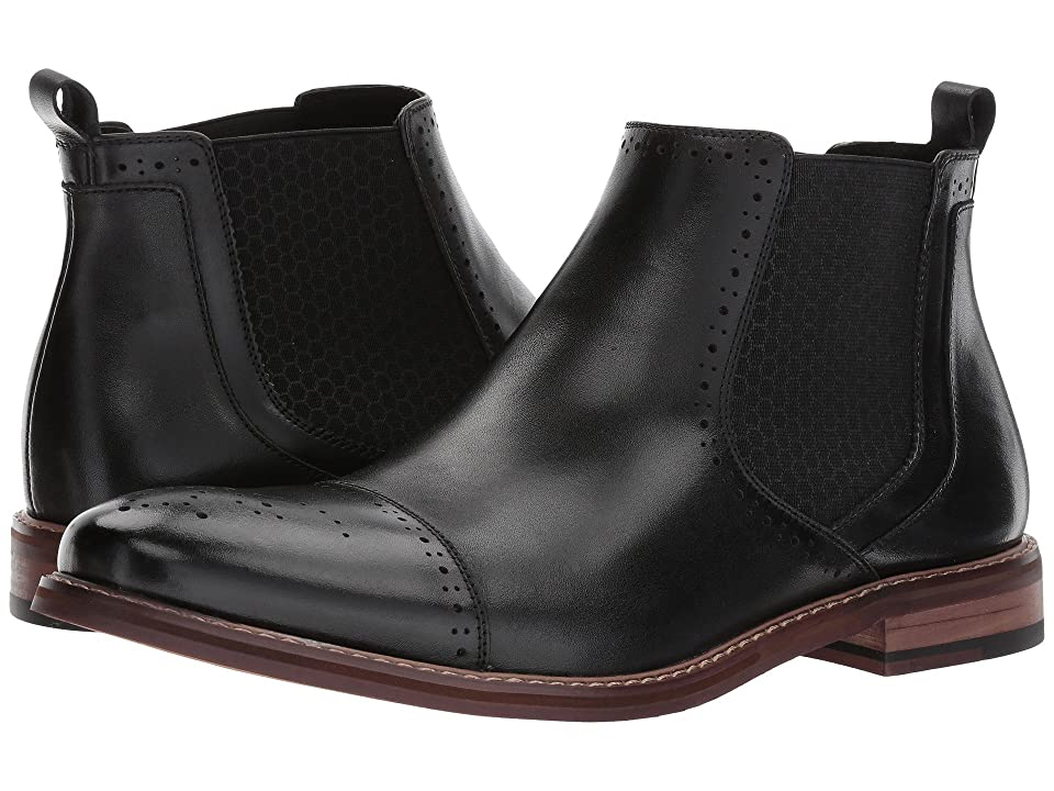 Stacy Adams Alomar Cap Toe Chelsea Boot (Black) Men