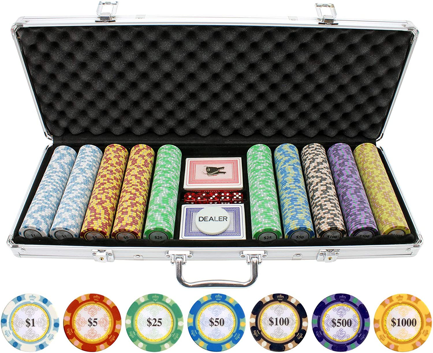 Max 73% OFF Ranking TOP3 JP Commerce 500 Piece Monte Carlo Chips Clay Poker Set