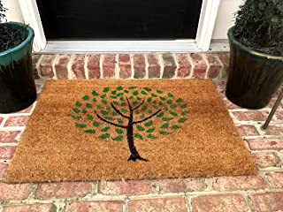 Natural Coir Non Slip Tree Floor Entrance Door Mat Indoor/Outdoor (24W X 36L)