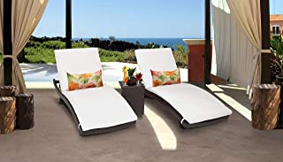TK Classics BELLE-CURVED-CHAISE-2x-ST-WHITE Belle Chaise Lounge, WHITE