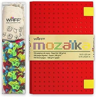WAFF, Customizable Mozaika Notebook / Journal Combo, Large, 8.25