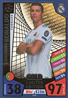 Match ATTAX Champions League 17/18 Cristiano Ronaldo Gold Limited Edition Trading Card LEG1 - Real Madrid 17/18