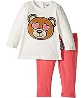 Moschino Kids - Teddy Bear Heart Eyes T-Shirt & Leggings Set (Infant/Toddler)