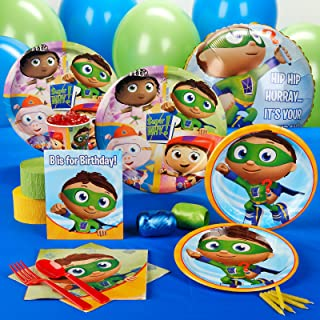 BirthdayExpress Super Why Party Supplies - Standard Party Pack for 16