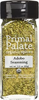 Primal Palate Organic Spices Adobo Seasoning, Certified Organic, 2.6 oz Bottle
