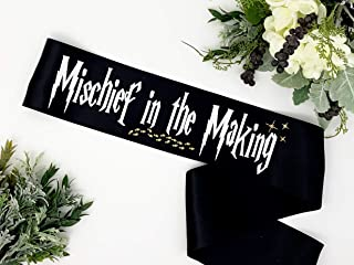 Harry P Baby Shower Sash - Mommy To Be Sash - Mischief in the Making