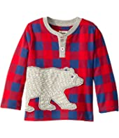 Hatley Kids Beary-Bush Long Sleeve Mini Henley (Infant)