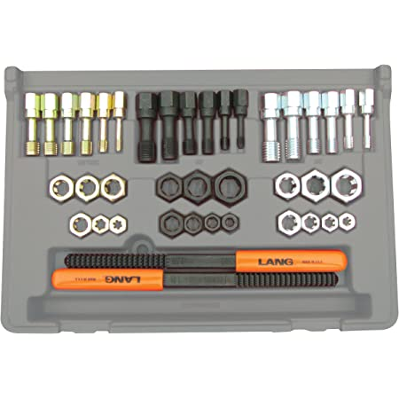 Lang 972 40 Piece Fractional and Metric Thread Restorer Kit