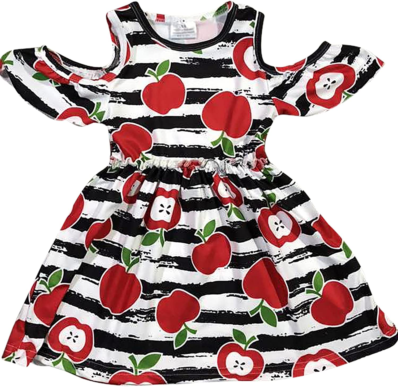 BluNight Collection Little Girl Dress Kids Lovely Cold Shoulder Party Summer Flower Girl Dress 2T-8