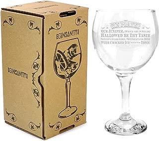 Ginsanity 22oz (645ml) Gin & Tonic Copa Balloon Cocktail Glass & Giftbox - The Gin Prayer