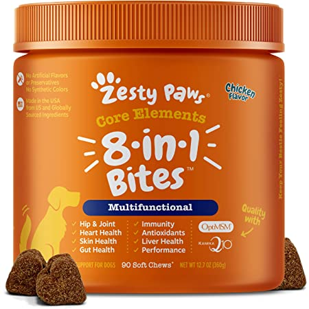 Multifunctional Supplements for Dogs - Glucosamine Chondroitin for Joint Support with Probiotics for Gut & Immune Health – Omega Fish Oil with Antioxidants and Vitamins for Skin & Heart Health