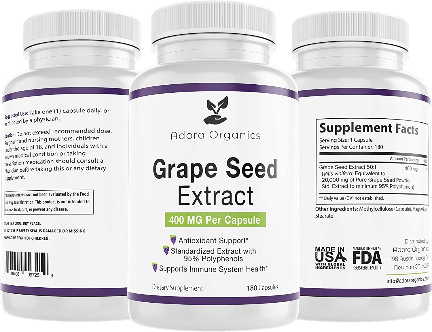 Grape Reservation Seed Extract - Antioxident System Support Health 2021new shipping free Immune