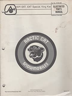 1971 ARCTIC CAT SNOWMOBILE EXT/ SPECIAL,KING KAT P/N 0185-545 PARTS MANUAL (067)