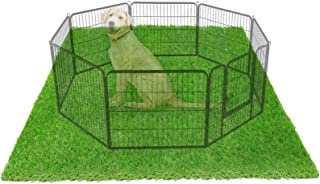 """LOOBANI 72"""" x 72"""" Dog Playpen Flooring Artificial Grass Mat, Waterproof and Non- Slip, Whelping Pads for Puppy Enclosure, ..."""