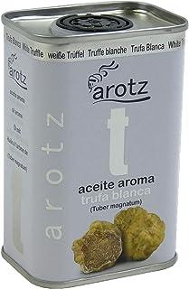 Aceite con aroma de trufa blanca. Lata de aceite trufado de 200ml. Acompaña cualquier plato y dale ese toque gourmet de alto nivel culinario. Aceite de oliva aromatizado con trufa blanca real.