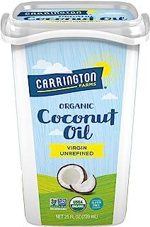 Sponsored Ad - Carrington Farms Gluten Free, Unrefined, Cold Pressed, Virgin Organic Coconut Oil, 25 oz. (Ounce), Coconut ...